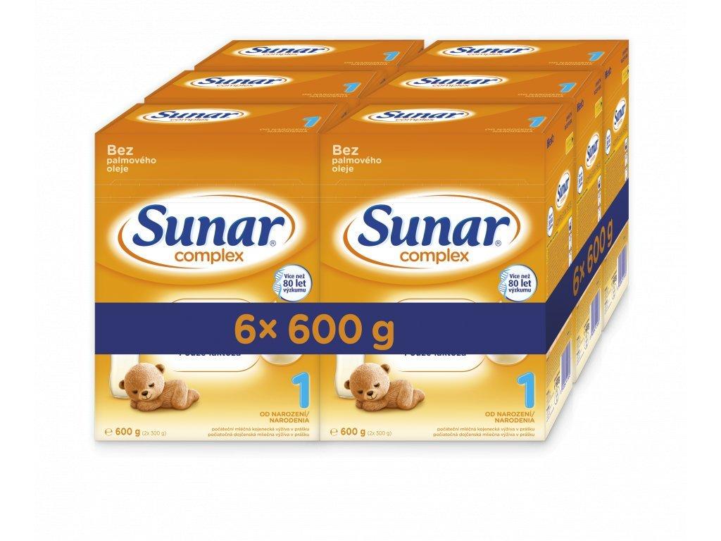 Sunar Complex 1 Počáteční kojenecké mléko 6x600 g