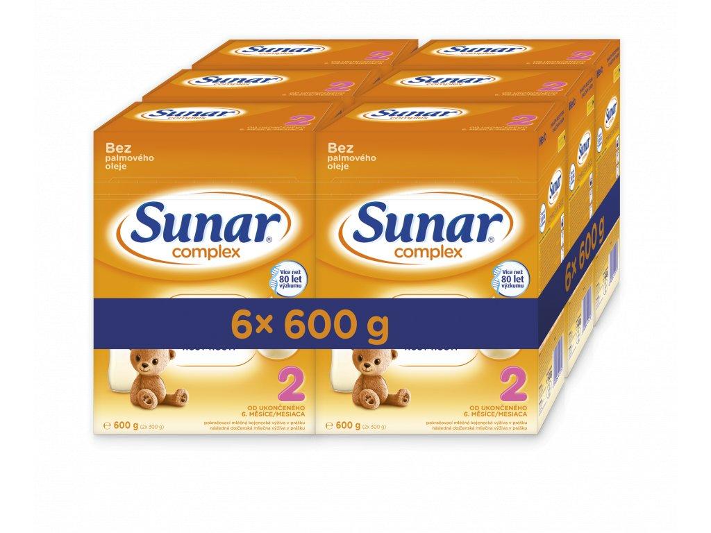 Sunar Complex 2 Pokračovací kojenecké mléko 6x600 g