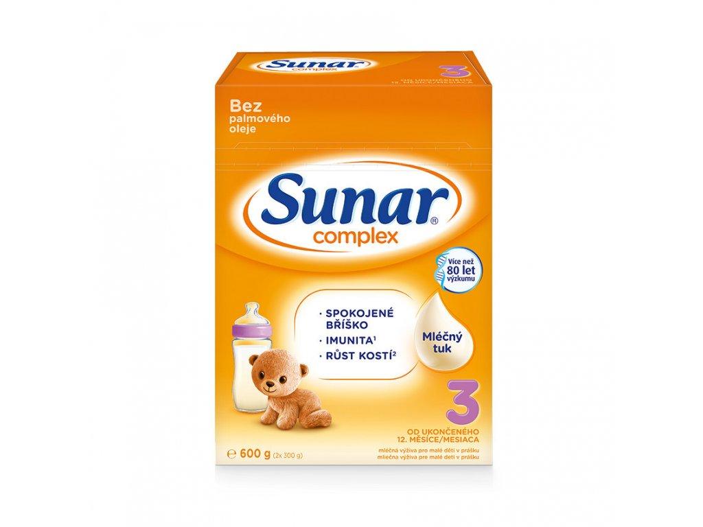 Sunar Complex 3 Batolecí kojenecké mléko 8x600 g