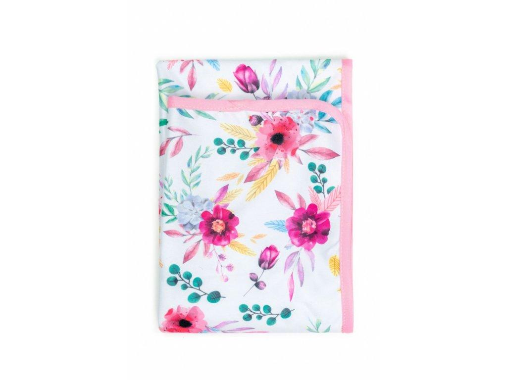 Bobánek Přebalovací podložka - Růžové květiny 75x75cm