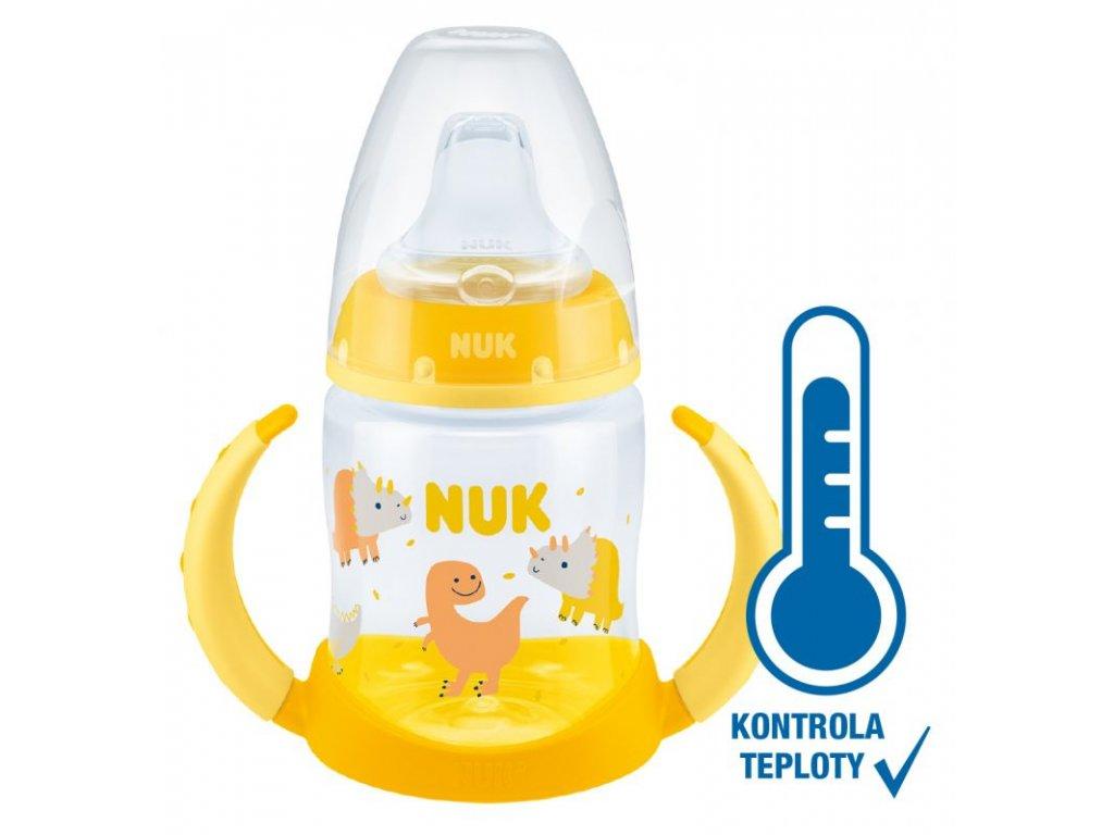 NUK FC lahev na učení s kontrolou teploty 150 ml žlutá