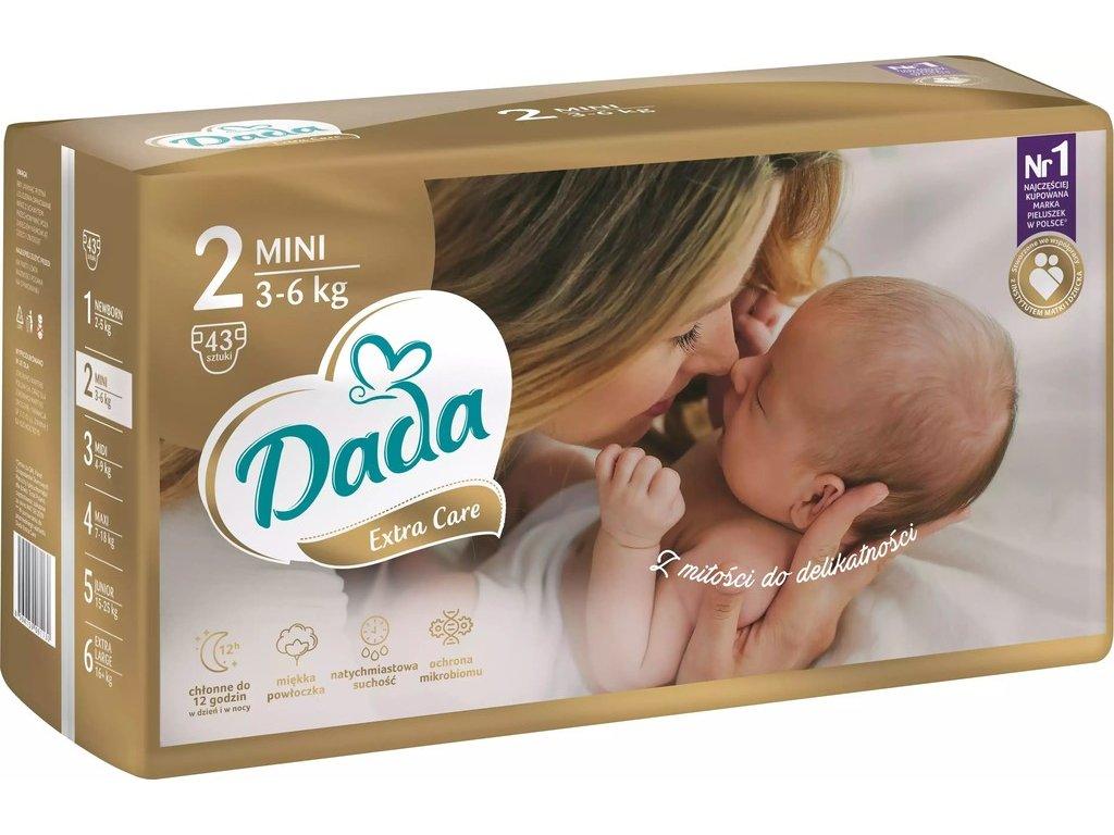 Dada Extra care 2 3-6 kg 43 ks