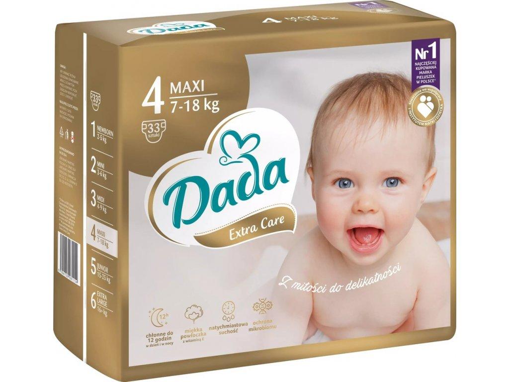 Dada Extra care 4 7-18 kg 33 ks
