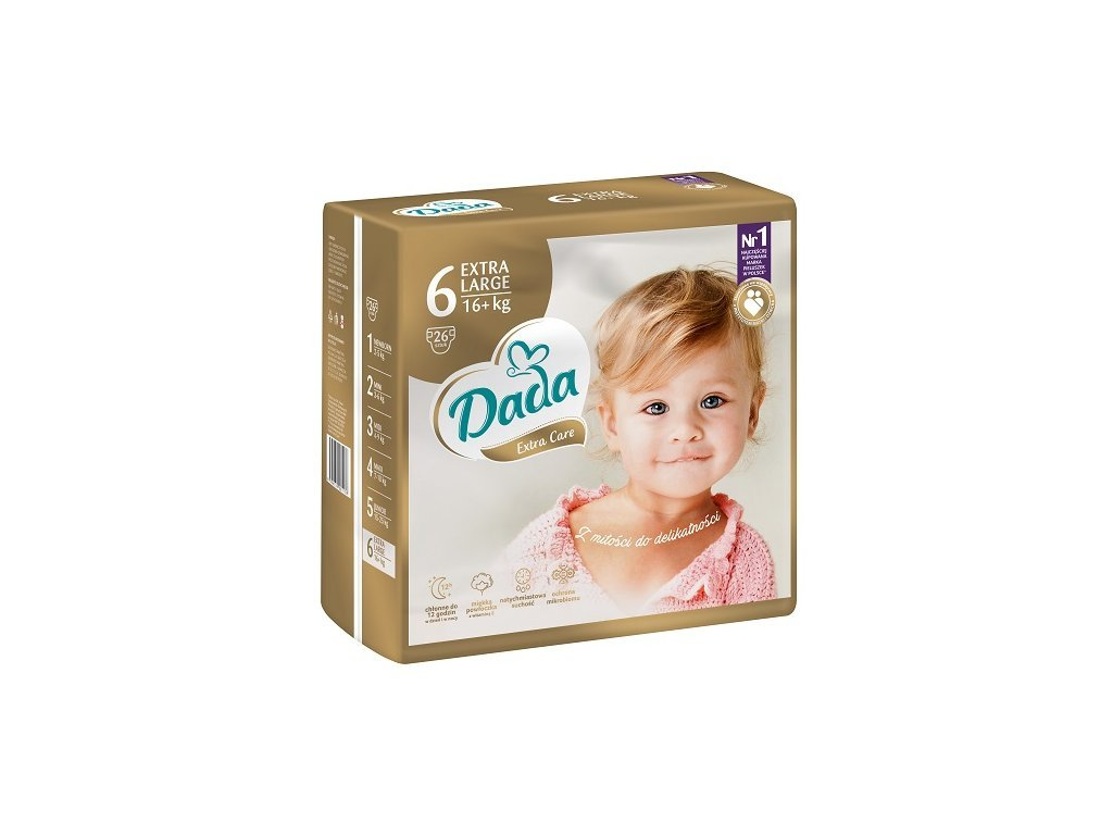 Dada Extra care 6 16+ kg 26 ks