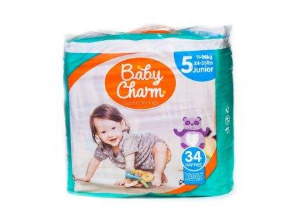 BABY CHARM SUPER DRY FLEX VEL.5 JUNIOR, 11-25 KG, 34 KS