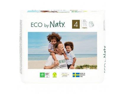 Natahovací plenkové kalhotky Eco by Naty Maxi 8-15 kg 22 ks (vel.4)