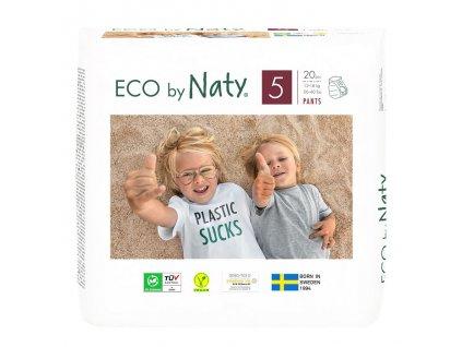 Natahovací plenkové kalhotky Eco by Naty Junior 12-18 kg 20 ks(vel.5)