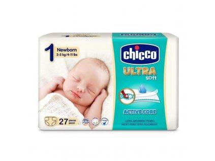 Jednorázové pleny Chicco Ultra Newborn 2-5kg 27ks (vel.1)
