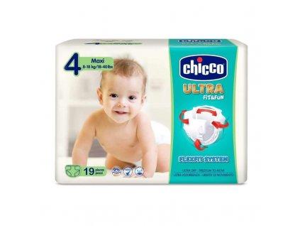 Jednorázové pleny Chicco Ultra Maxi 8-18kg 19ks (vel.4)