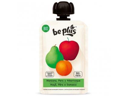 Beplus Ovocné pyré jablko, hruška, meruňka BIO 100 g