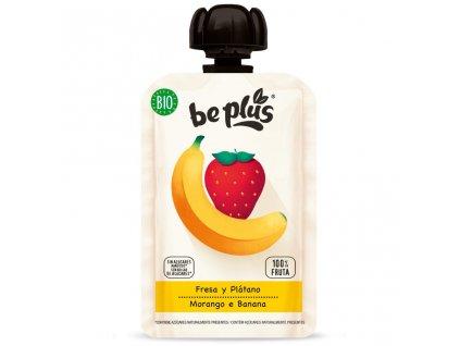 BePlus BIO banán a jahoda100g