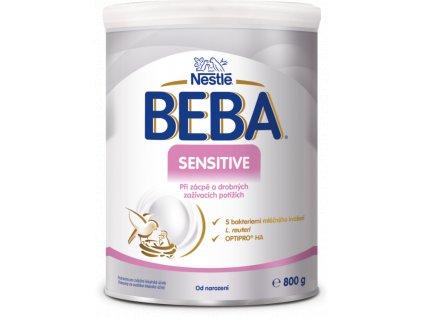 7613039561355 BEBA Sensitive 800g přední pohled T1 2 552x750