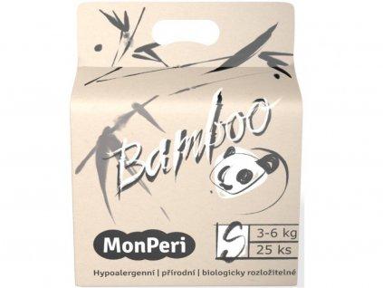 9308 monperi bamboo s 3 6 kg 25ks eko detske bambusove jednorazove plenky velikost 2