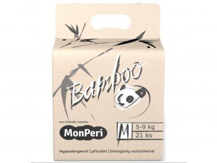 9311 monperi bamboo m 5 9 kg 21ks eko detske bambusove jednorazove plenky velikost 3
