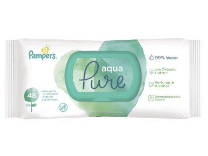 Pampers Aqua Pure dětské čisticí ubrousky 48 ks