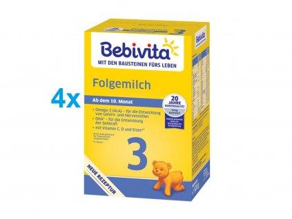 Bebivita Mléko 3 pokračovací mléčná výživa 4x500g
