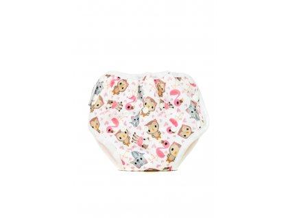 Bobánek Tréninkové kalhotky - Růžová zvířátka