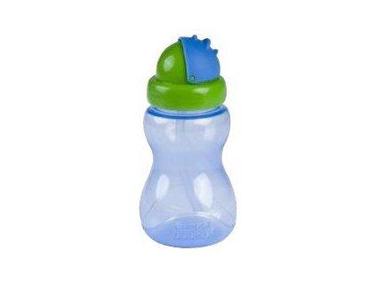 Láhev sportovní s brčkem malá 270ml - modrá