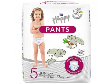 Happy Pants Junior vel 5, 11-18kg 22 ks