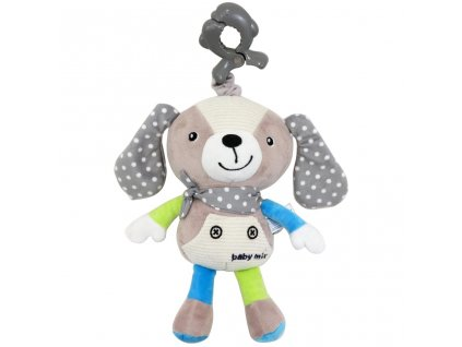 Dětská plyšová hračka s hracím strojkem PEJSEK BÉŽOVÝ Baby mix