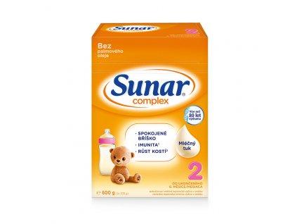 Sunar Complex 2 Pokračovací kojenecké mléko 8x600 g