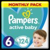 8001090911063 Pampers Active Baby Monthy Box S6 124ks