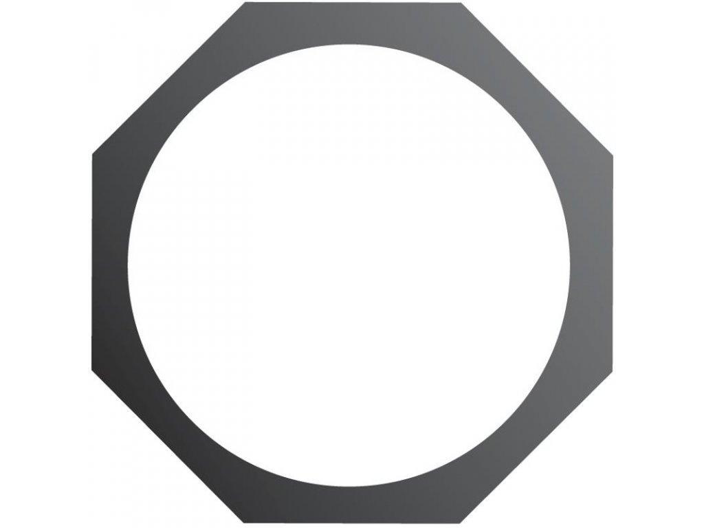 Rámeček PAR 64 8-hranný, černý