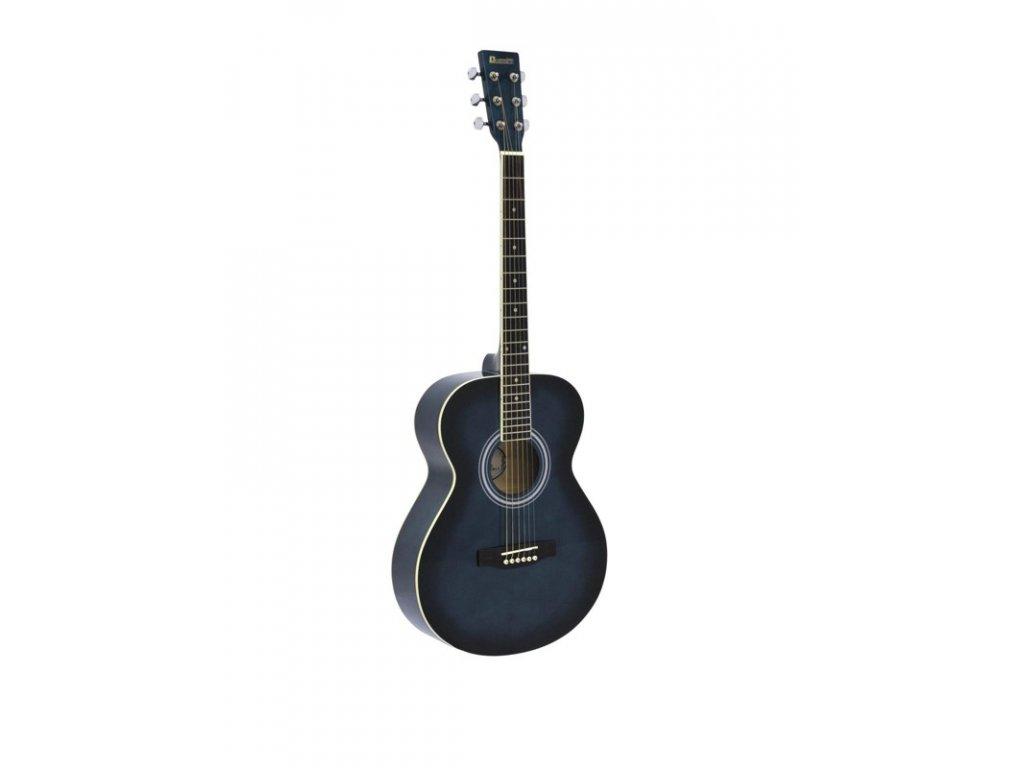 Dimavery AW-303, akustická kytara typu Folk, modrá stínovaná