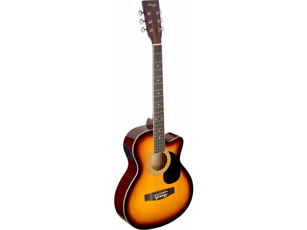 Stagg SA20ACE-SNB, elektroakustická kytara typu Auditorium