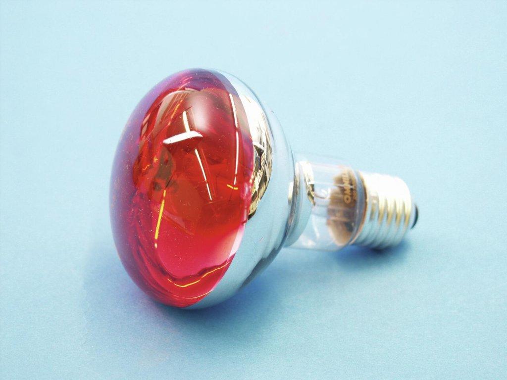 230V/60W E27 Omnilux, červená