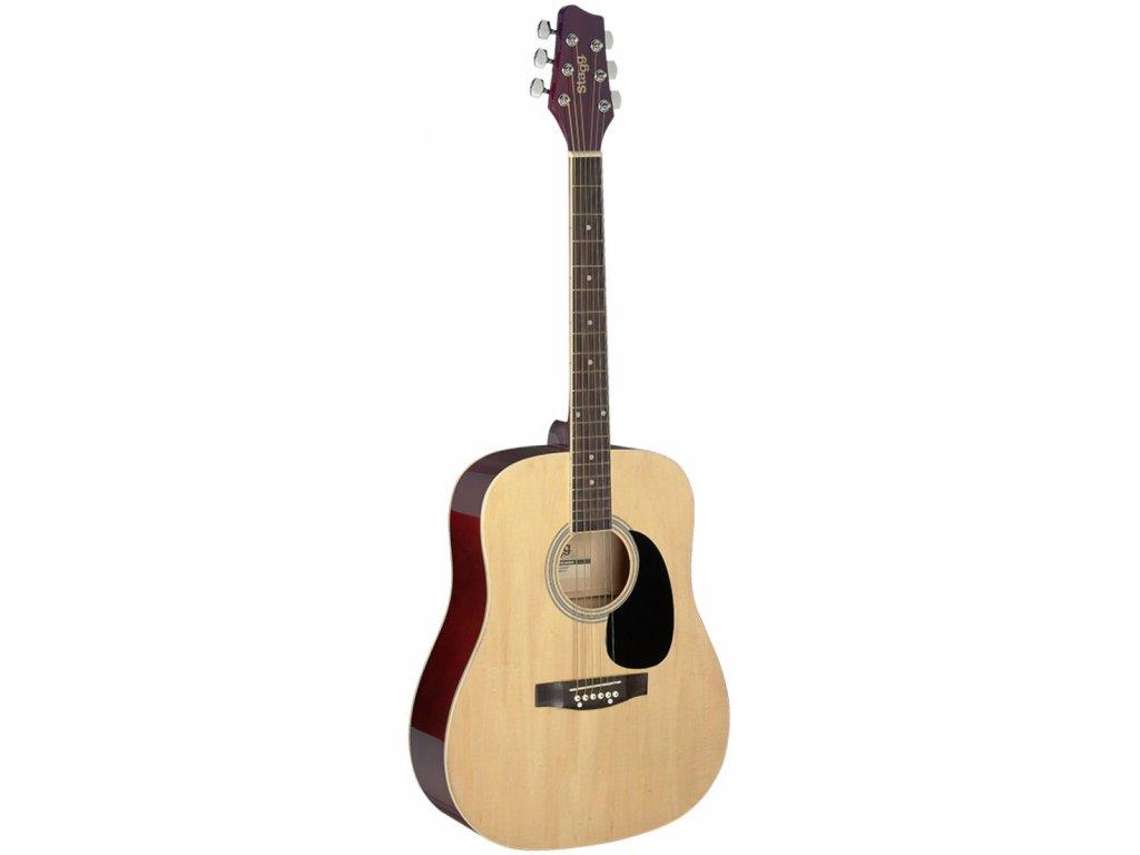 Stagg SA20D NAT, akustická kytara typu Dreadnought