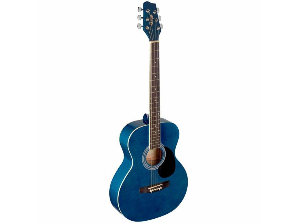 Stagg SA20A BLUE, akustická kytara typu Auditorium