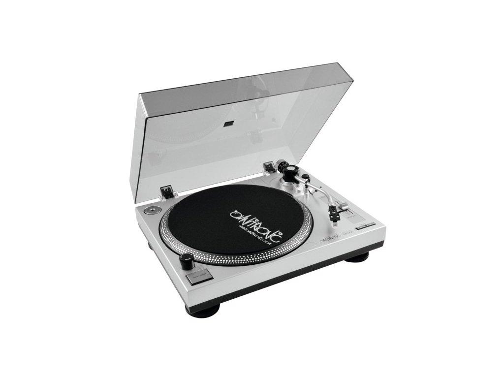 Omnitronic BD-1350, gramofon s řemínkovým pohonem stříbrný