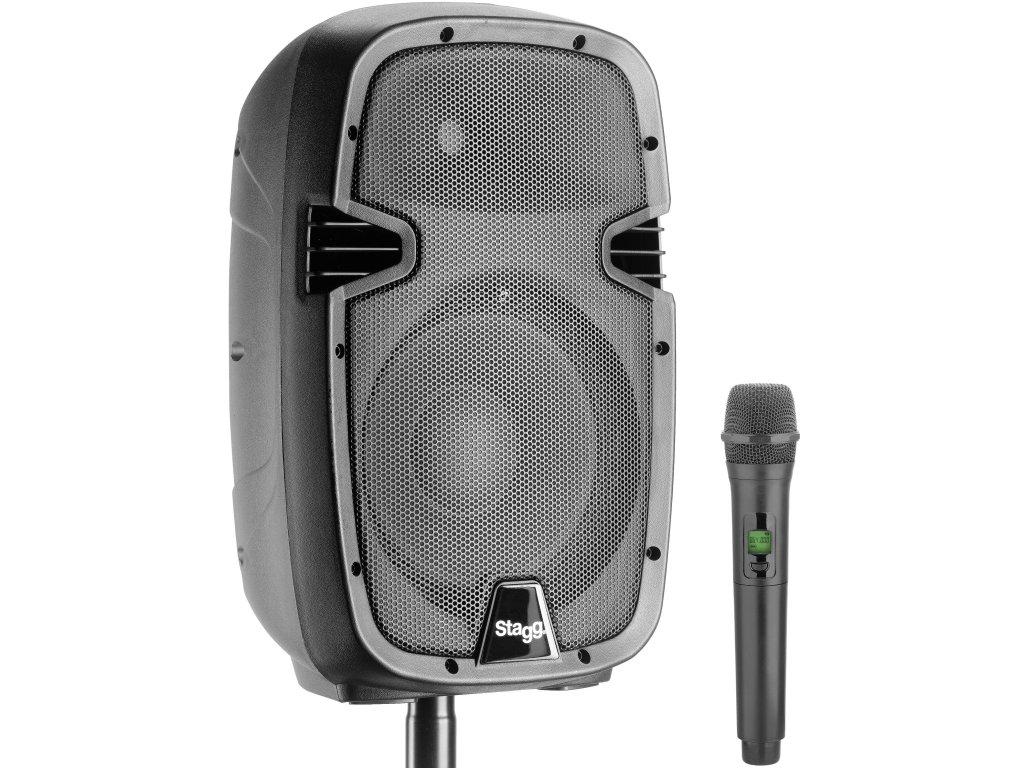 """Stagg RIOTBOX10U, mobilní 10"""" zvukový systém BT/UHF, 60W"""