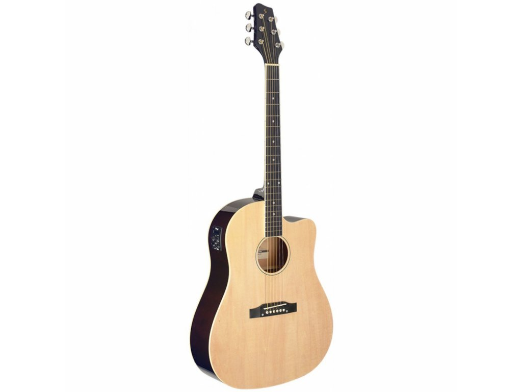 Stagg SA35 DSCE-N, elektroakustická kytara typu Slope Shoulder Dreadnought