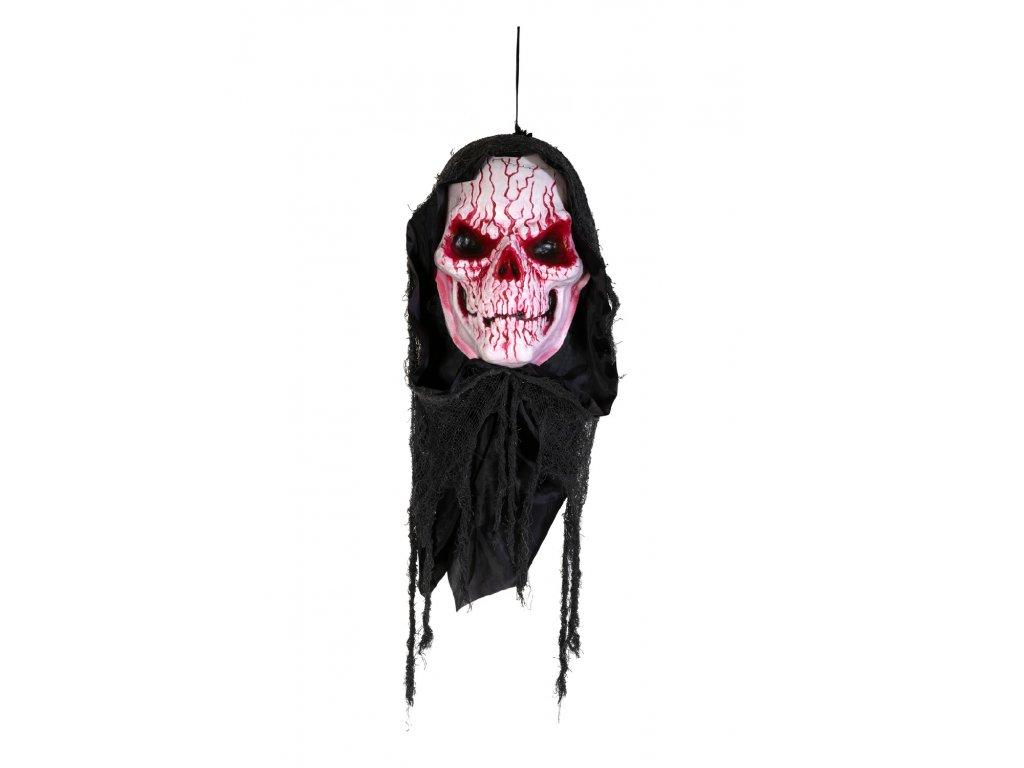 Halloween krvavá lebka, 80 cm