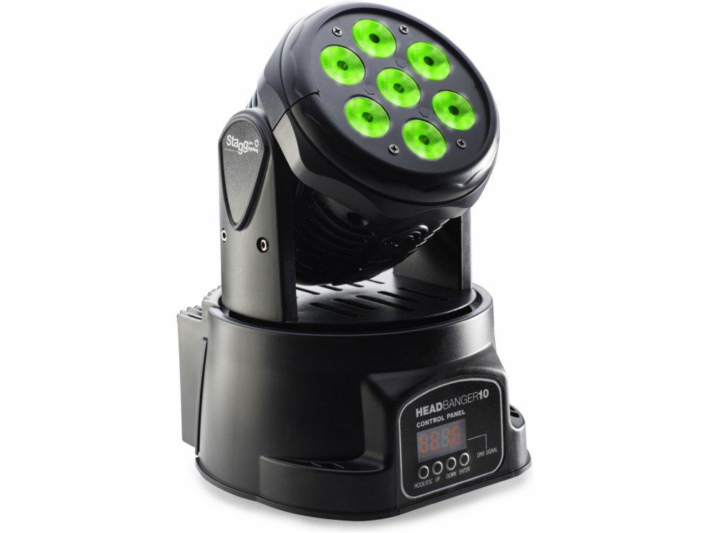 STAGG LED otočná hlavice 7x10W RGBW, DMX AKCE