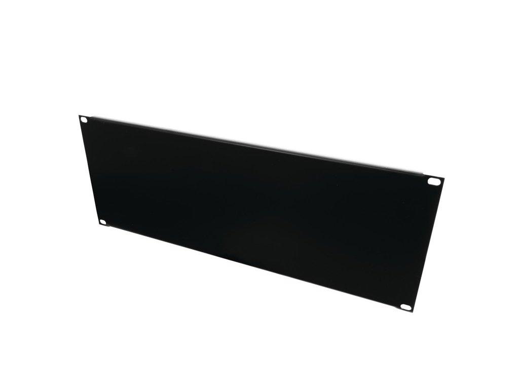 """Přední panel zaslepovací 19"""" 4HE U profil, černý"""