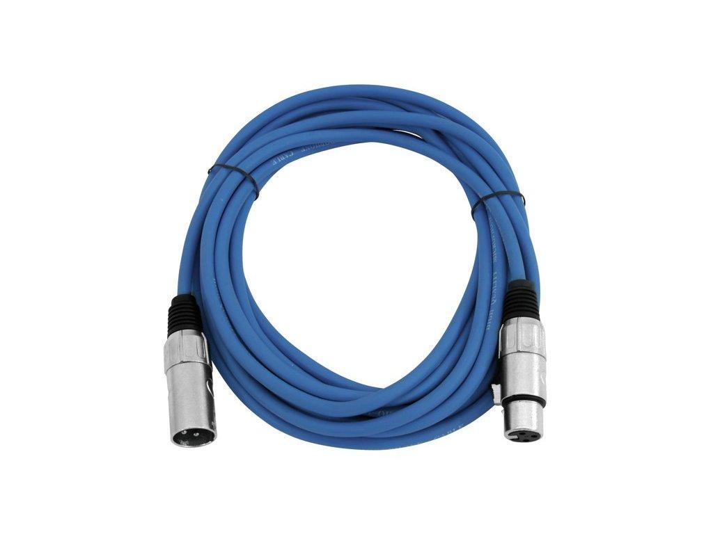 Kabel MC-50 XLR samec - XLR samice, modrý, 5m