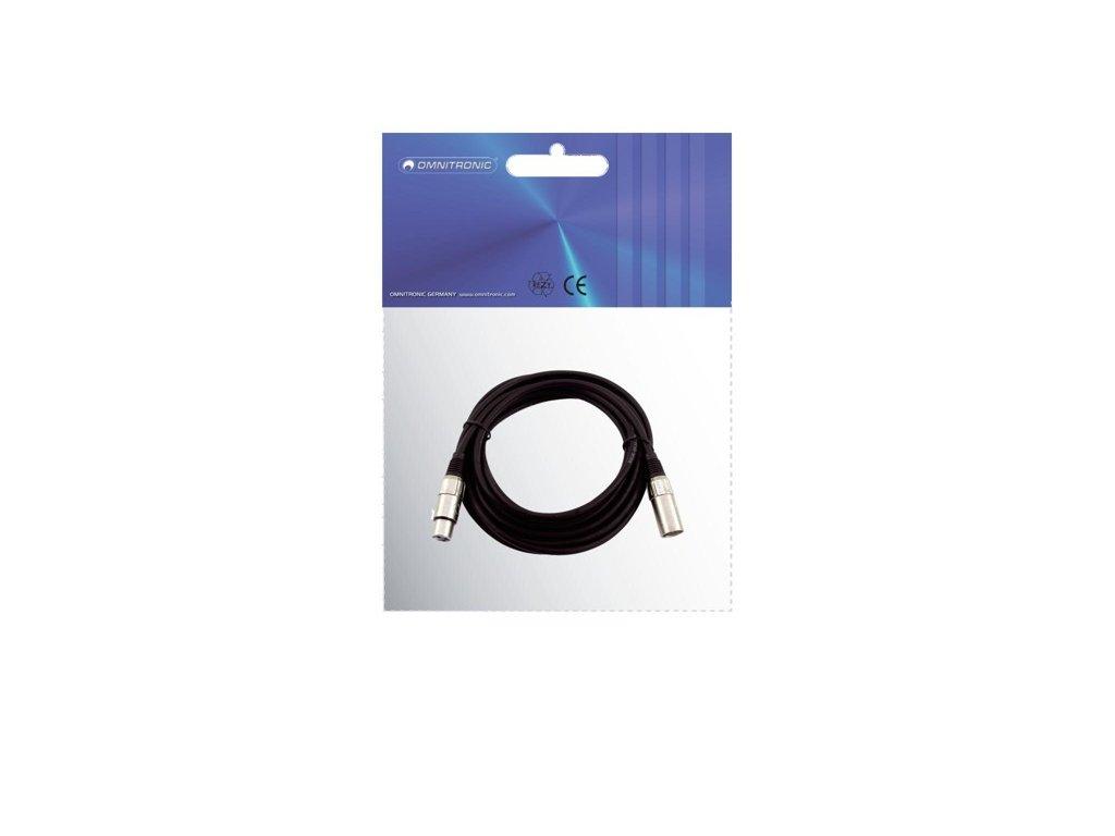 Kabel MC-100 XLR samec - XLR samice, černý, 10m