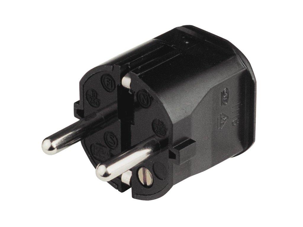 Elektrická zátka z černého plastu