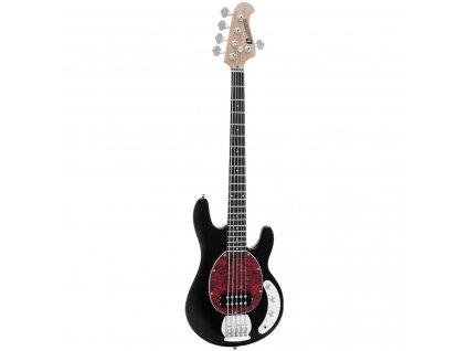 Dimavery MM-505, elektrická baskytara pětistrunná, černá