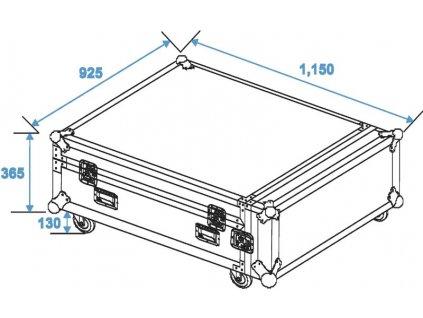 Case pro 4x CLA-228 s kolečky