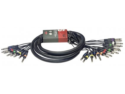 Stagg SML3/16P8PS E, kabel 16x mono JACK/8x stereo JACK, 3m