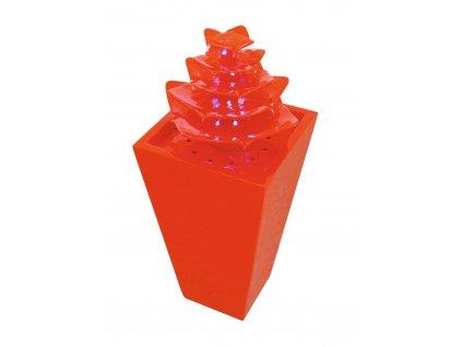 Fontána Pagoda, červená, LED