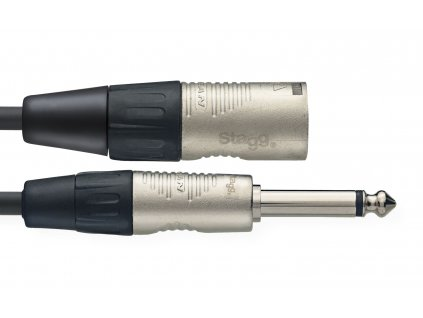 Stagg NAC1PXMR, kabel JACK/XLR,1m