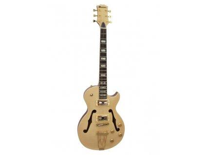 Dimavery LP-600, semiakustická kytara, přírodní