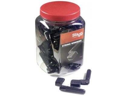 Stagg GSW-40 BK, černé kličky k navíjení strun (40ks)