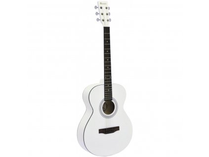 Dimavery AW-303, akustická kytara typu Folk, bílá