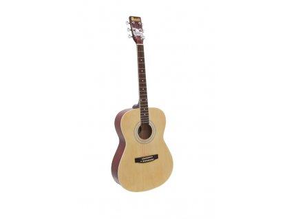 Dimavery AW-303, akustická kytara typu Folk, přírodní